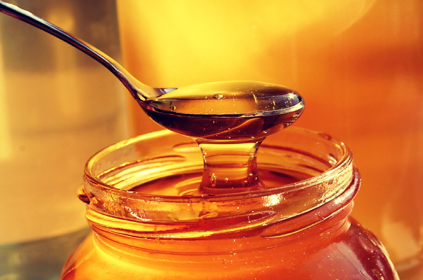 Manuka honey is the best as it is medicinal and not as sticky but any honey works. Something in it's compound