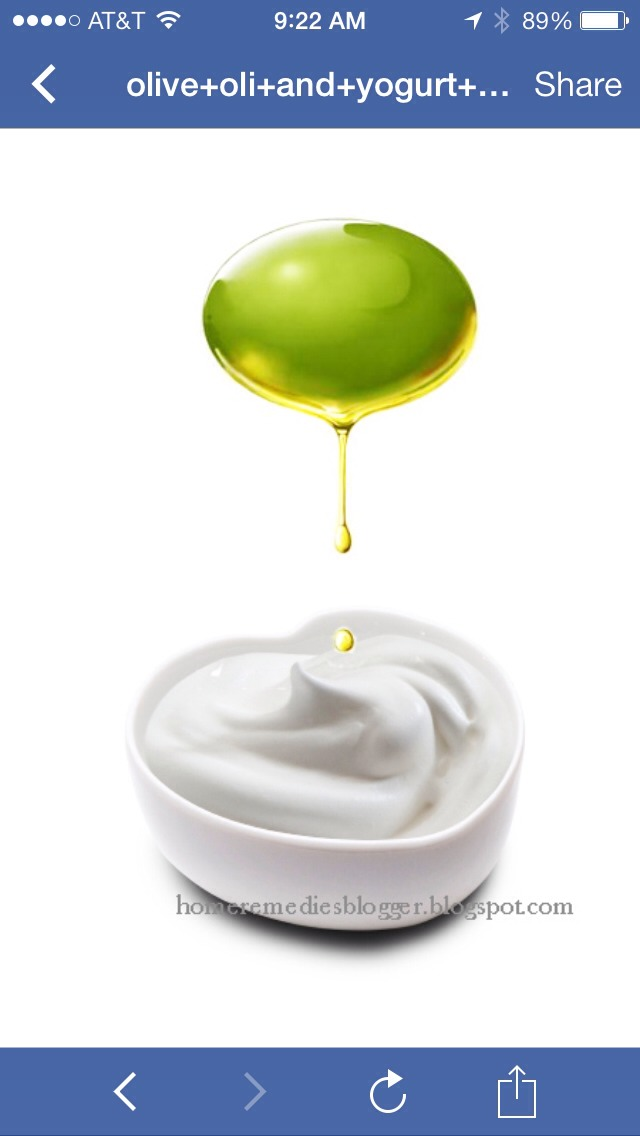 Try this olive oil and yogurt conditioning hair mask for shinier, conditioned locks. Ingredients:  1 teaspoon olive oil 1 cup yogurt