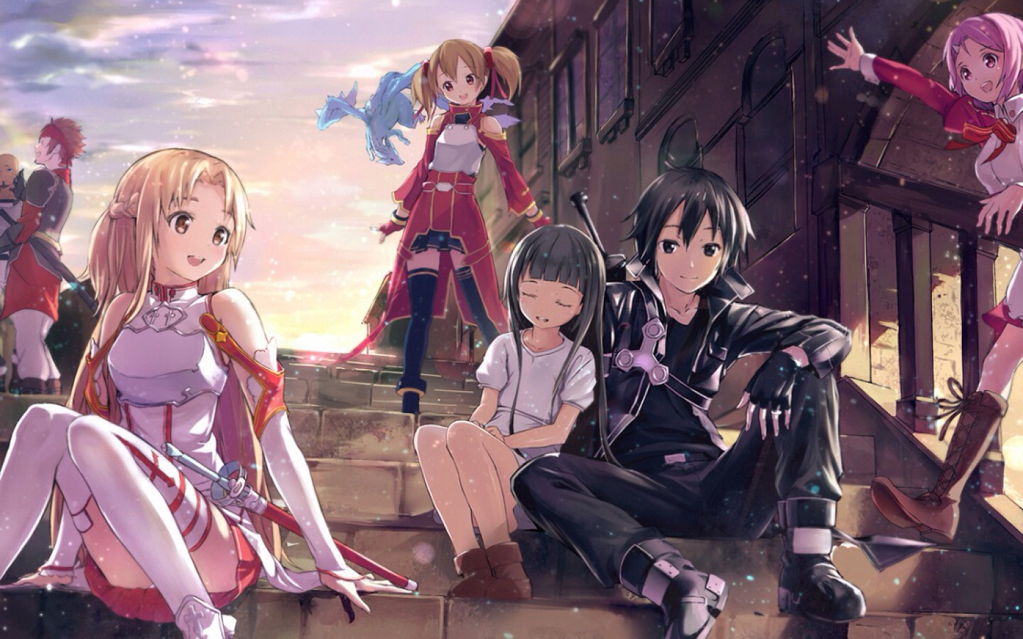 Sword Art-Online has a really interesting plot it's funny, sad and romantic at times. The English dubbed voices aren't annoying which is great.