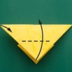 Fold the bottom corner past the top edge