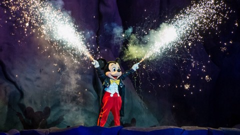 Fantasmic: End of the day fireworks event and show at Disney's Hollywood Studios.  Wishes: Fireworks extravaganza that closes the evening at the Magic Kingdom