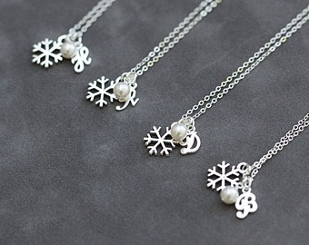Add an adorable snowflake necklace for some style points!