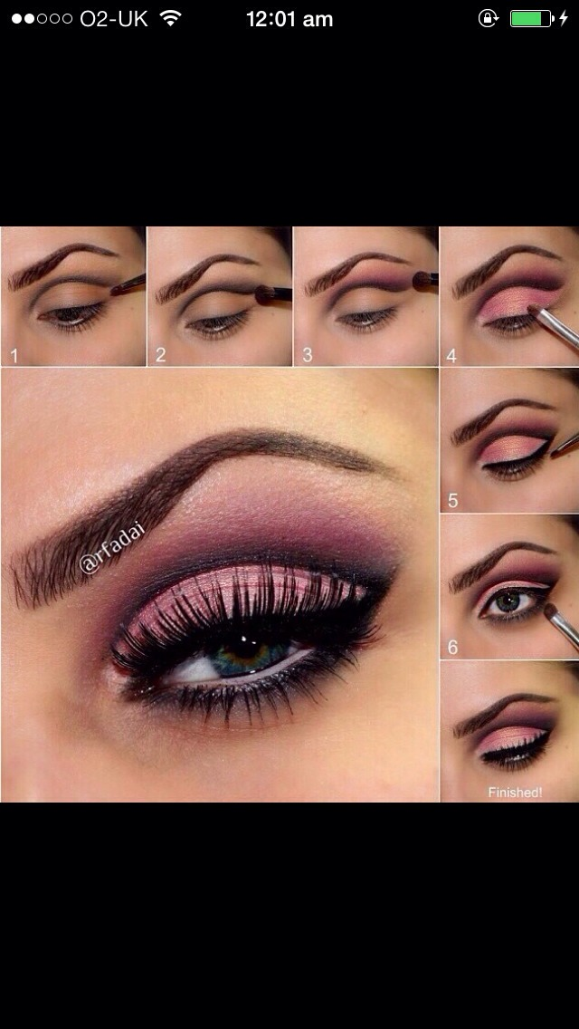 Six simple steps for a pink smokey eye.