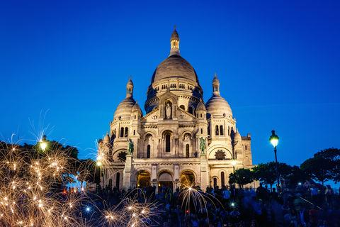 5. Skip the top of the Eiffel Tower—Get a view of Paris from high up on the steps of the Sacre Coeur at the top of Montmartre—for free!