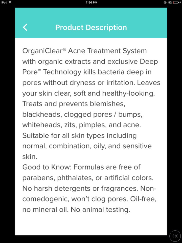 If this isn't organic and promising, I wouldn't know what is. But seriously guys, proactive hasn't worked for me, acne free hasn't worked for me, that neutrogena  doesn't really look worth trying in my opinion, and some Olay products and OrganiClear have been my only successions so far.
