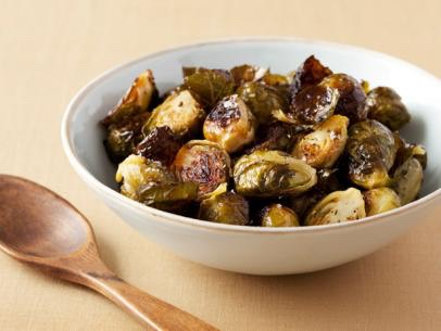 Roasted Brussel sprouts http://www.foodnetwork.com/recipes/ina-garten/roasted-brussels-sprouts-recipe2.html