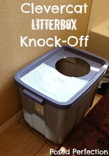 10. You can make your own Clevercat litter box for a fraction of the cost. Gives your cat some privacy and keeps dogs from getting in and messing with their business. Directions here. http://www.posedperfection.com/2014/02/clevercat-litter-box-knock-off.html