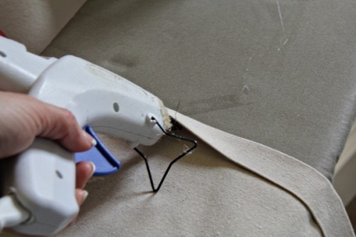 16. If you don't have time (or the money) to get clothes hemmed, using a glue gun is a quick solution.