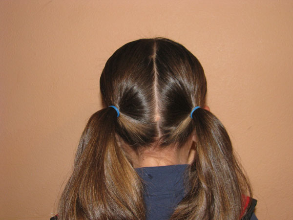 Put your hair into bunches, then get 10 bobbles or lastic's depending on how long your hair is. Then take your bobbles and measuring 2/3 fingers apart from your first lastic place another lastic around till you get to the bottom.Then repeat on the other side.