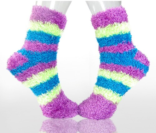 Fuzzy socks are my favorite they keep your feet nice and warm