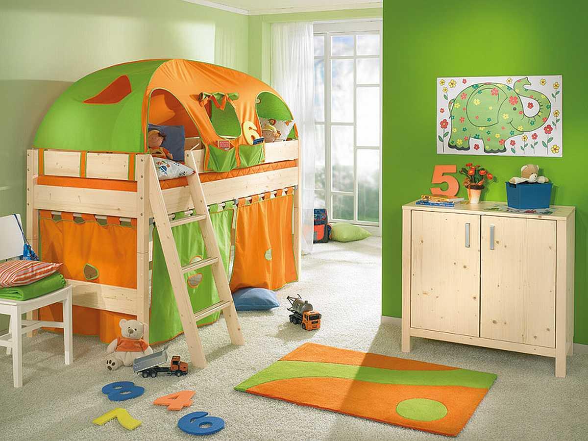A fun room for a toddler.