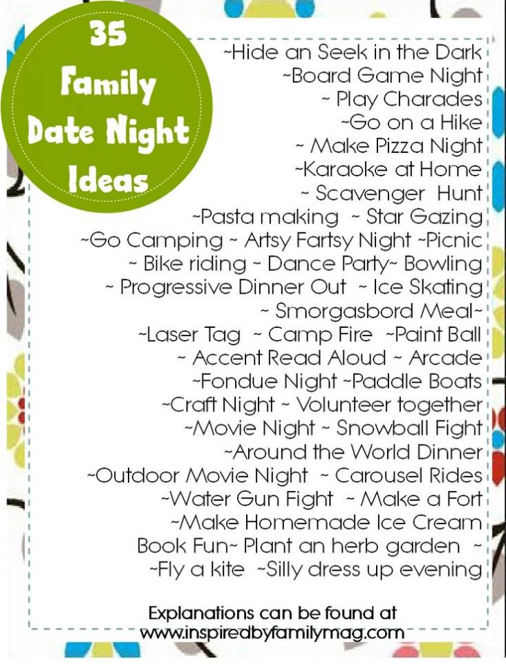 fun ideas to do together as a family
