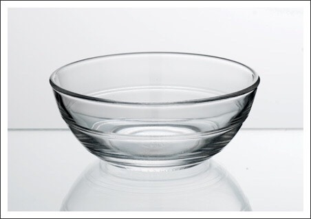 A glass bowl