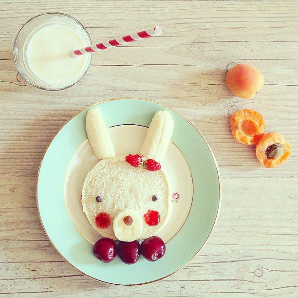 Some Bunny Loves Lunch There are so many details to love about this creative bunny breakfast, including a sweet barrette made from strawberries.