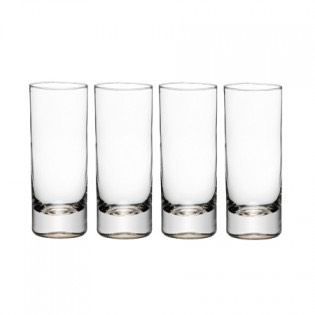 Spoon 1 tsp of syrup into each of the 4 glasses. Roll each glass to coat bottom and inside of glass.