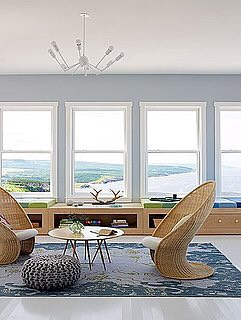 Leave your windows bare. It gives a room more depth.