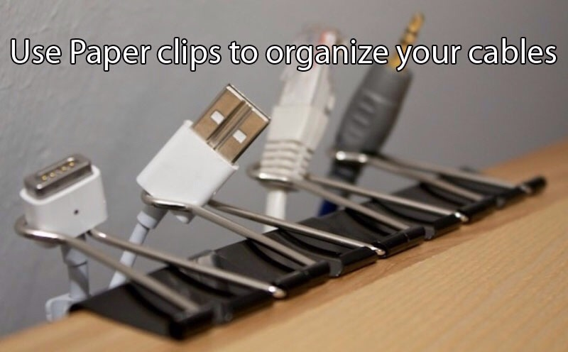 Use clips to attach them to a table