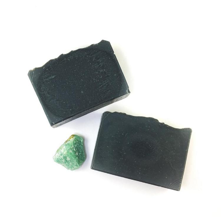 "The color of this soap might make it look a bit scary, but it is a soap with many skin benefits. The Bamboo Charcoal Soap has been used in many Asian countries for hundreds of years and it is known as the ""Black Diamond"" for its impressive skin benefits."