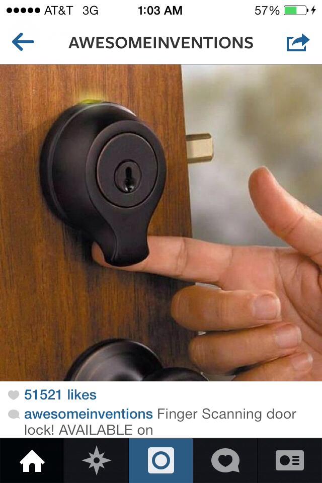 Open your door by finger print!