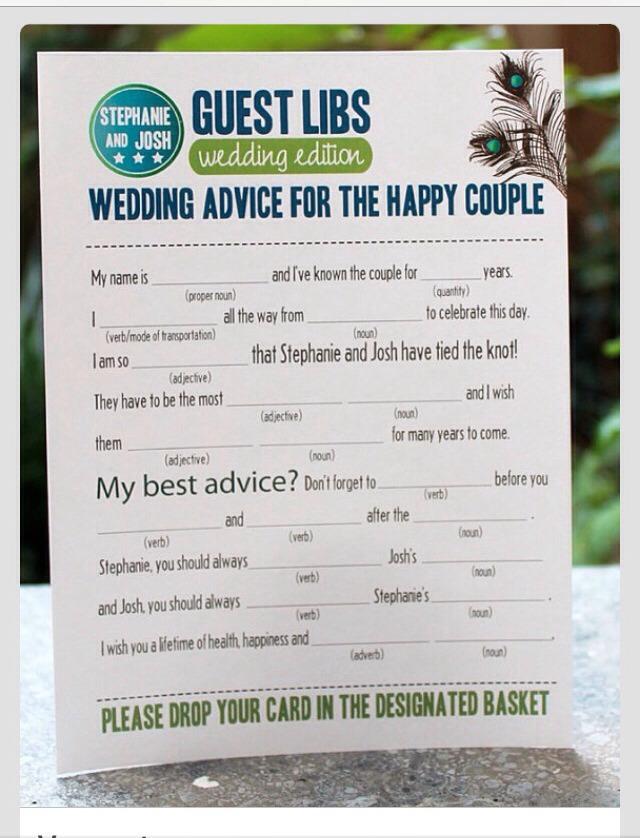 Fun idea for guests.