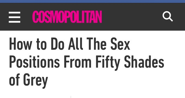 Fifty shades of grey sex ideas