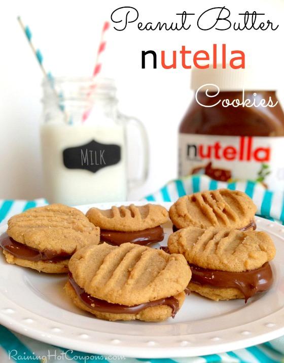 peanut butter nutella cookie recipe