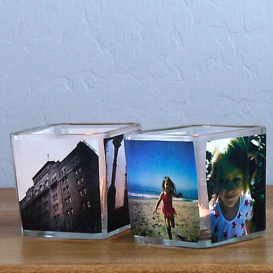 Once dry, pop a tea light in the finished votives, and enjoy the glowing pictures.