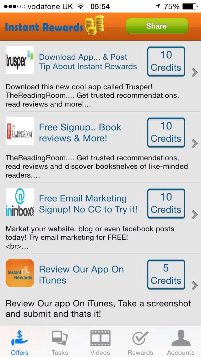 Instant Rewards iOS