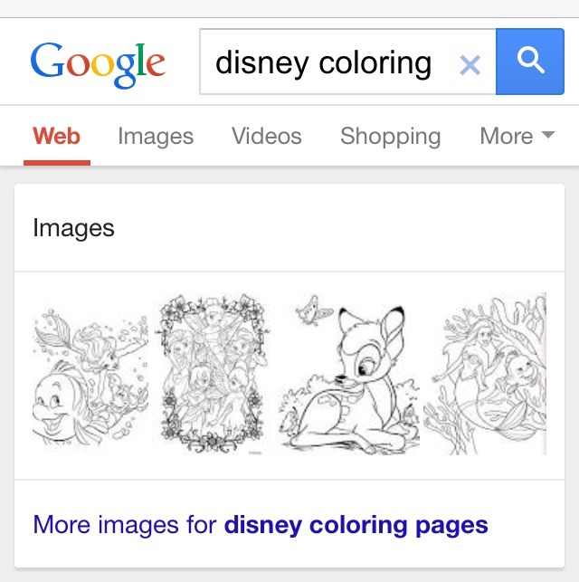 Next click on: images for Disney coloring pages