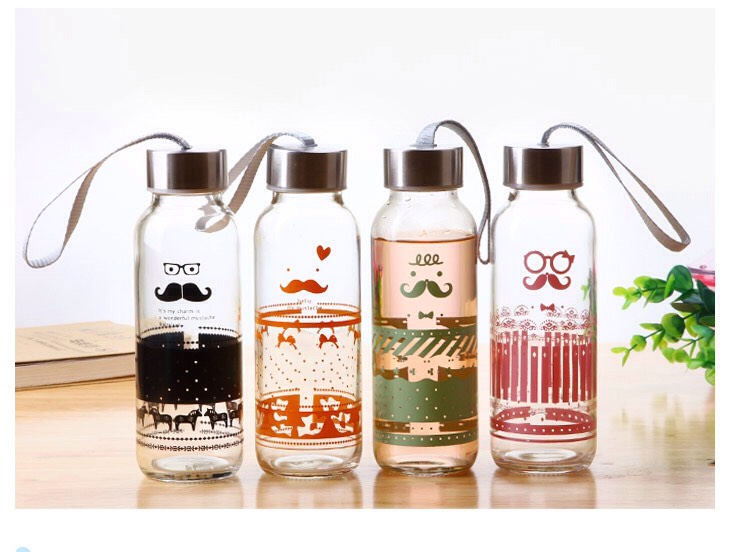 Buy a cute water bottle. This will trick you to wanting it in your hands to show off and to keep drinking the water