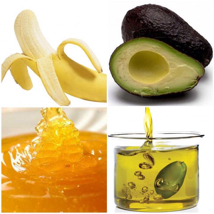 banana olive oil honey and avocado!