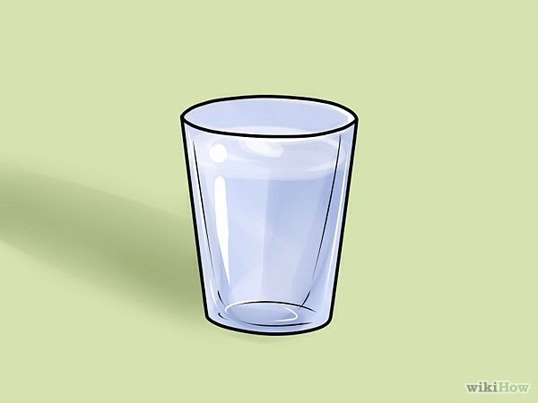 Fill a small cup or a shot glass with alcohol. Try and get the strongest alcohol you can find.