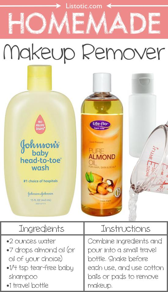15. Homemade Makeup Remover