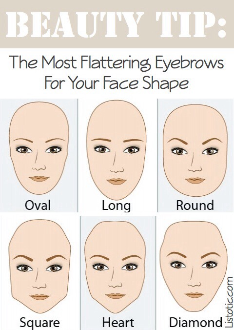 Just like contouring, your eyebrow shape and thickness can help soften your face shape.