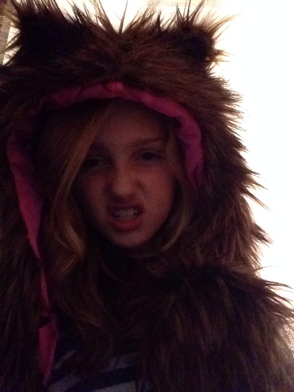 A really wolf hat with hand pockets from target