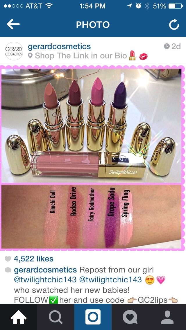 A few other shades of their lipsticks swatched