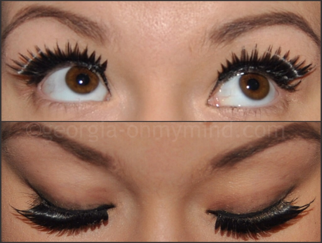 If you choose to use false eyelashes, remember to use the dark glue as it will bend in with your natural lashes.