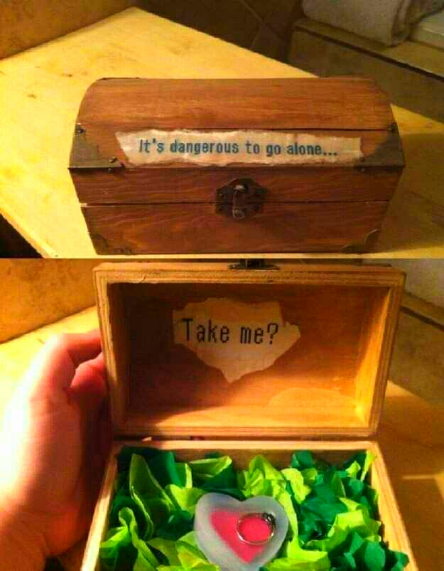 Link x Zelda forever, right? Well this little Ocarina of Time-themed proposal will be worth your while.