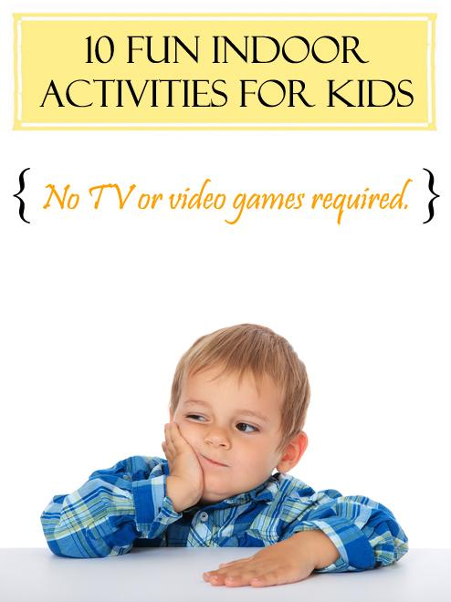 Check out our great list of indoor activities for kids of all ages to enjoy. Read More > http://bit.ly/1mUwGHg
