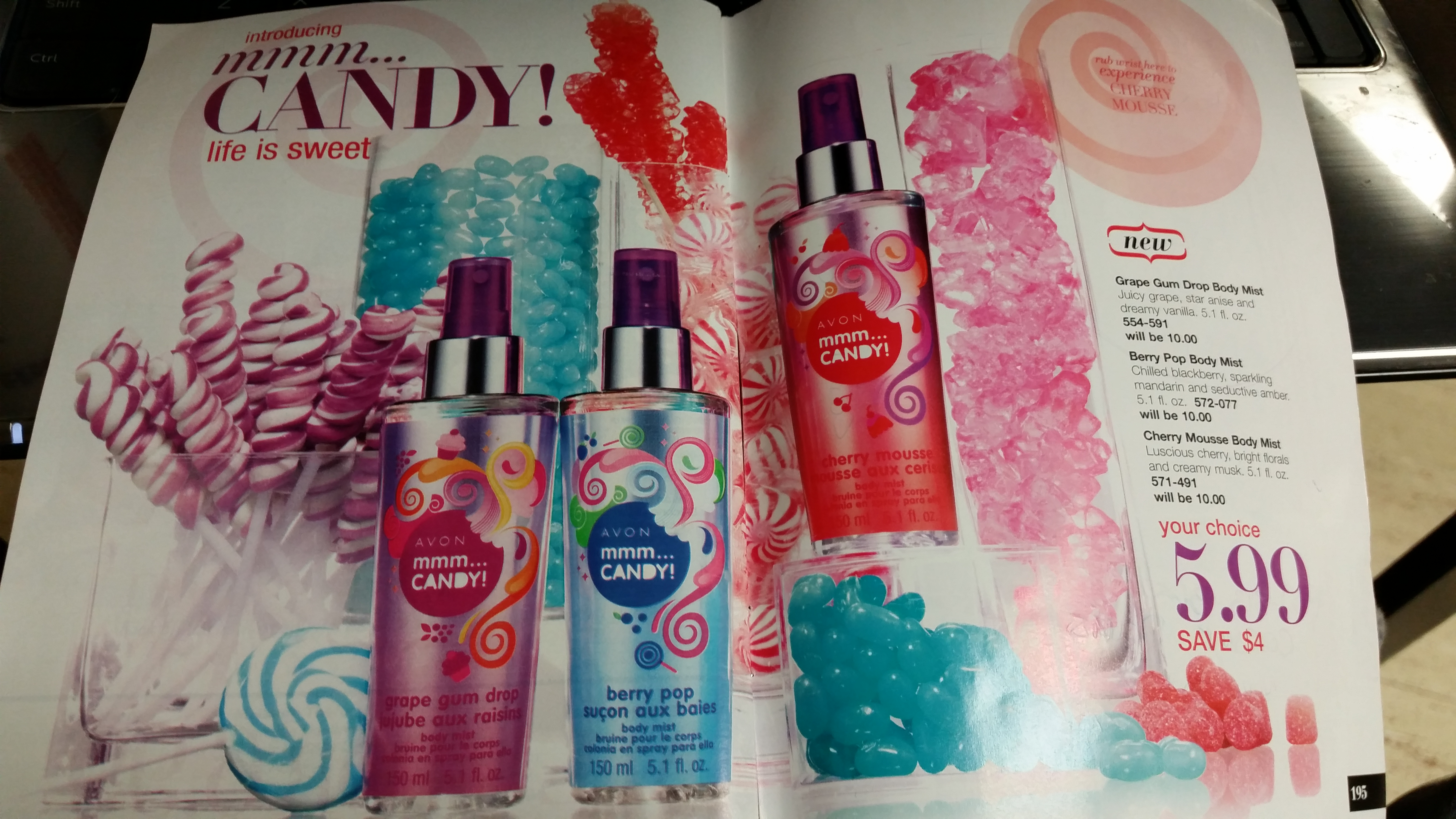 """Smell sweet like candy with """"mmm... Candy"""" by AVON! ❤ Shop online at www.youravon.com/carolyn4"""