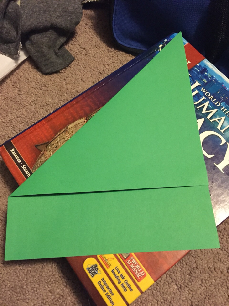 Fold a big triangle