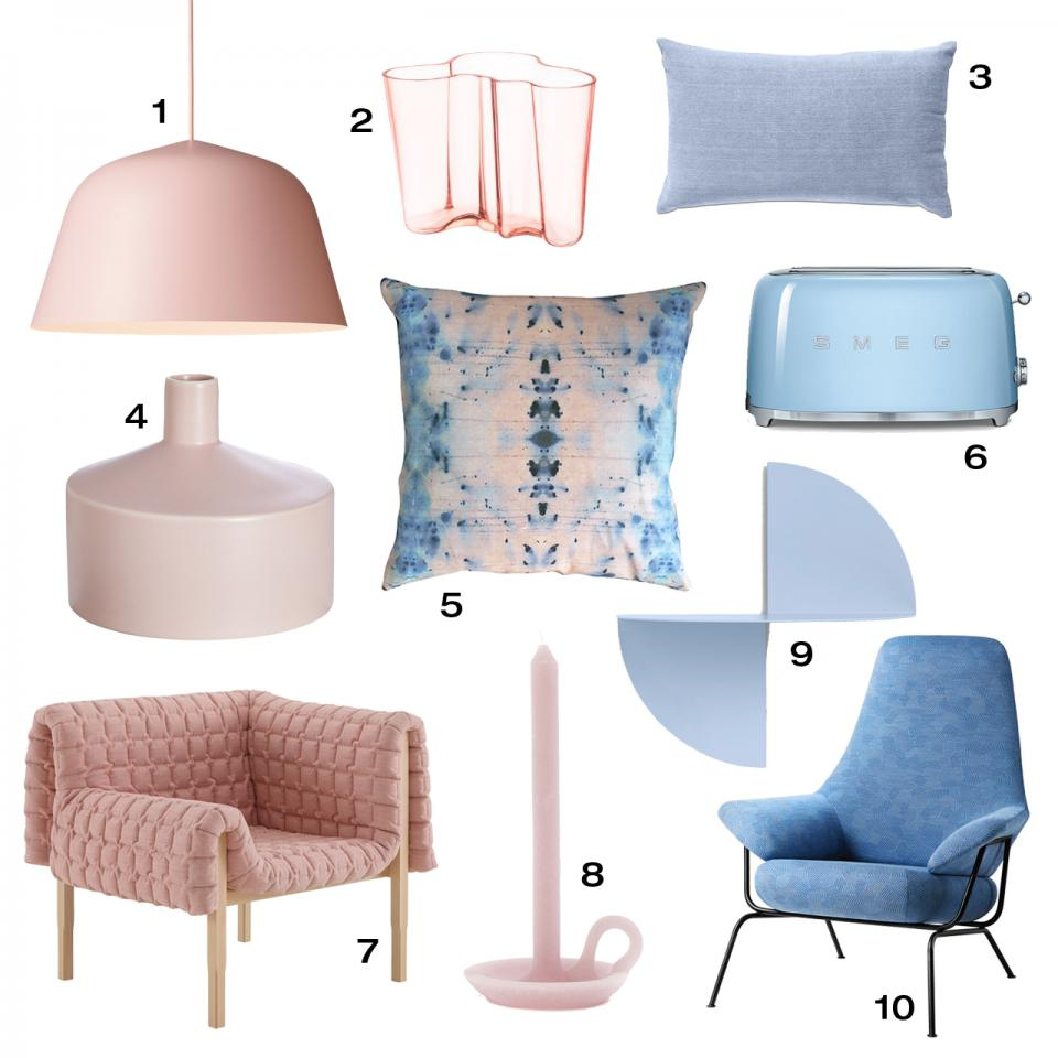 10 home furnishings to match PANTONE's latest selections.