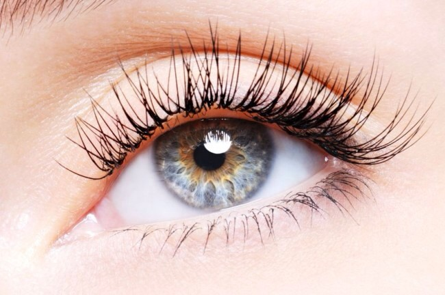 Before going to bed. Put some Vaseline on your eyelashes to make them grow faster