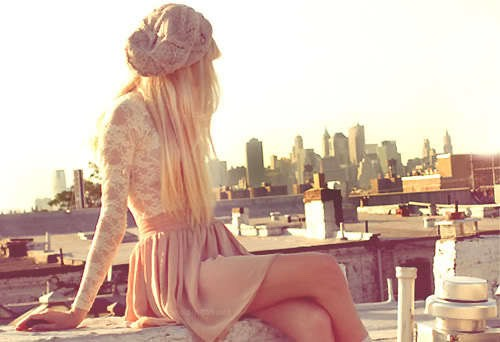 All this is is a lace long sleeve, a nude-pink skirt, and a barré  It all comes together so well
