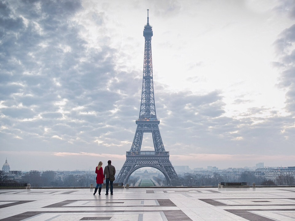 The Eiffel Tower. See the view from the top together at night.