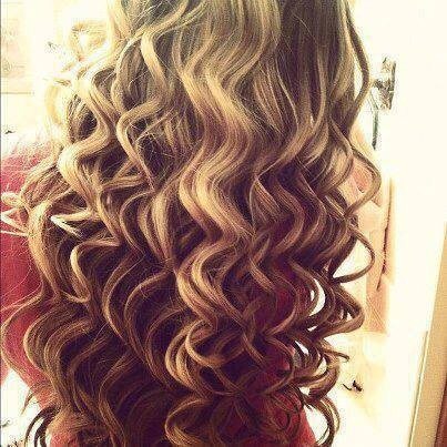Want curls like this?? All you need is a 1 inch wand ,time and patience layer by layer wrap the hair around the wand DO NOT USE THE CLAMP UNLESS NEEDED.when done use hair spray and done now you have beautiful,wanted hair!!
