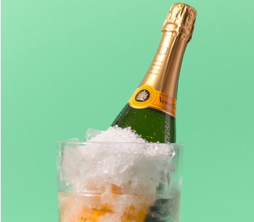 Salt as Wine Chiller Chill a bottle of bubbly fast. Place ice around the bottle's base in a bucket and sprinkle with a few tablespoons of salt. Repeat, layering ice and salt up to the bottle's neck. Fill with water, wait 10 minutes, and serve.