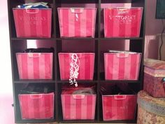 Organize!  cut off only the front of the bag, measure, and slide into normal file organizing bins for a cute design