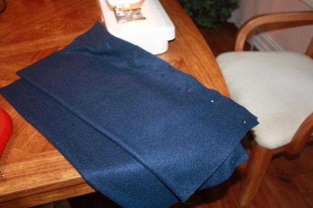 Sew the sleeve until you get a fabric tube basically.