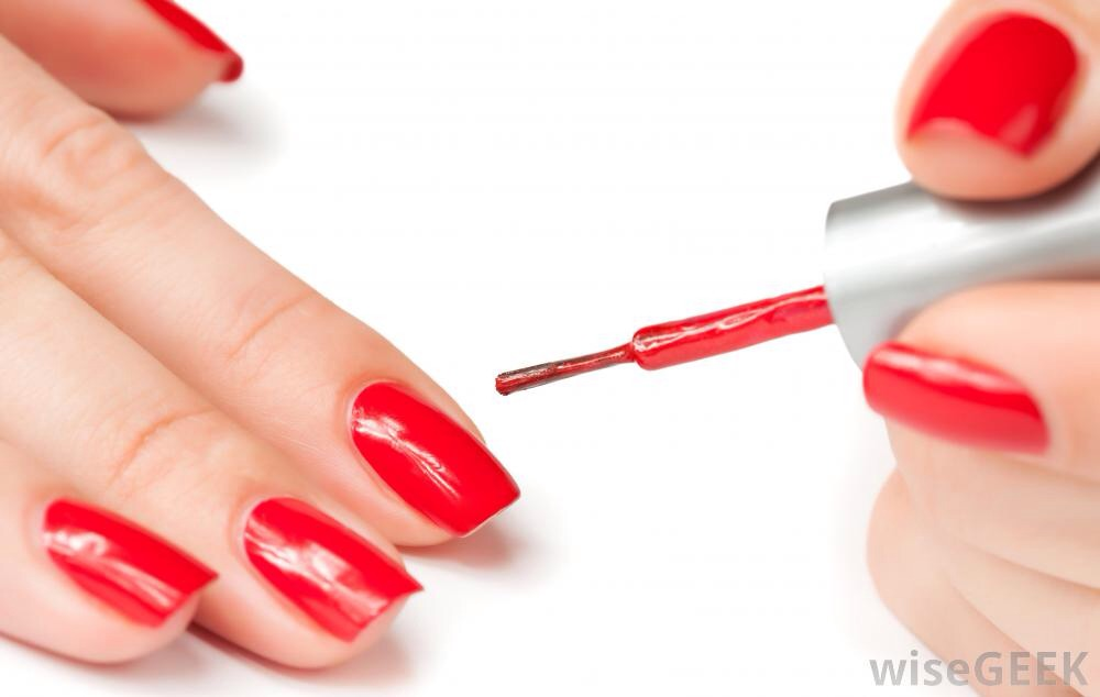 before polishing ur nails, put vaseline on ur cuticles to keep polish off the skin and also around ur nails.